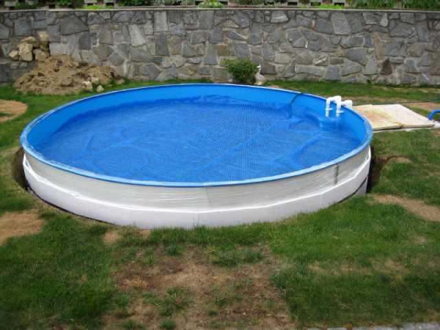 pool zum einlassen ber ideen zu pool selber bauen auf pinterest intex frame pool in erde. Black Bedroom Furniture Sets. Home Design Ideas