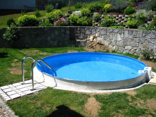 Stahlwandpool rund stahlwand rundbecken for Swimming pool stahlwand rund