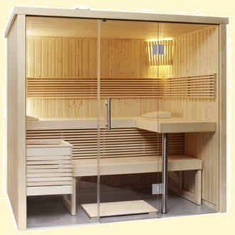 moderne sauna mit glas optik. Black Bedroom Furniture Sets. Home Design Ideas