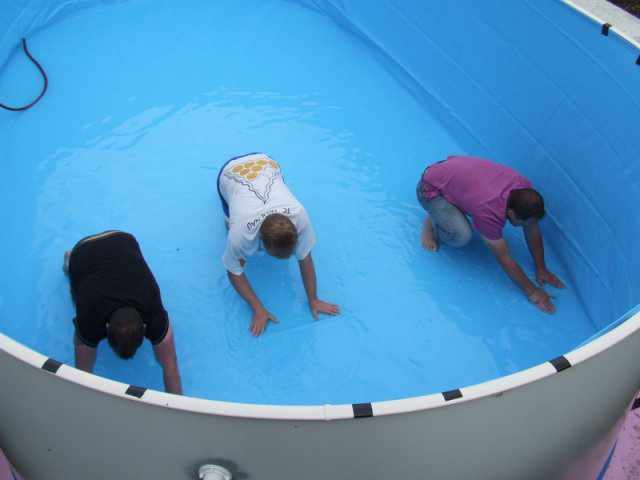 Aufbau stahlwand ovalbecken for Aufbauanleitung pool stahlwand