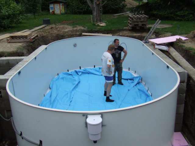 Stahlwandpool oval aufbauanleitung stahlwandbecken for Folie schwimmbad