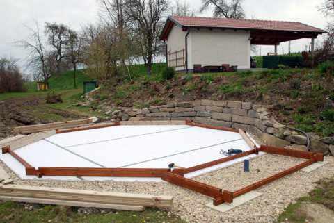 Aufbau von weka holzpools - Holzpool aufbau ...