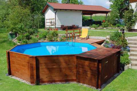 Aufbau von weka holzpools for Pool stahlwand erfahrung