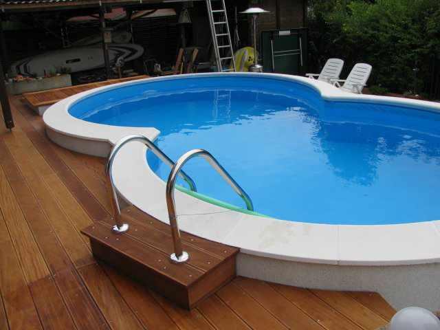 Achtform stahlwandpool komplett sets for Schwimmbecken mit stahlwand