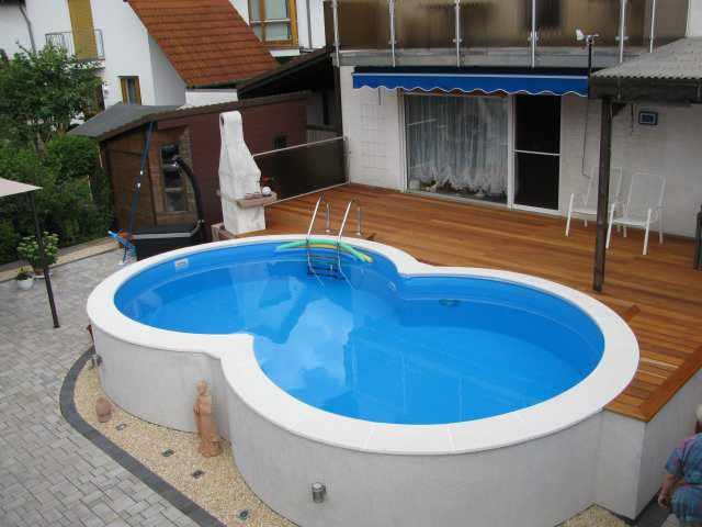 Achtform stahlwandpool komplett sets for Aufbau pool mit stahlwand