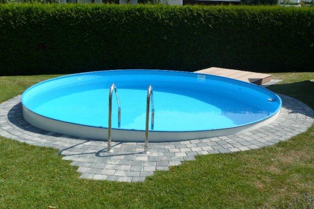 Stahlwandpool rund stahlwand rundbecken for Aufbauanleitung pool stahlwand