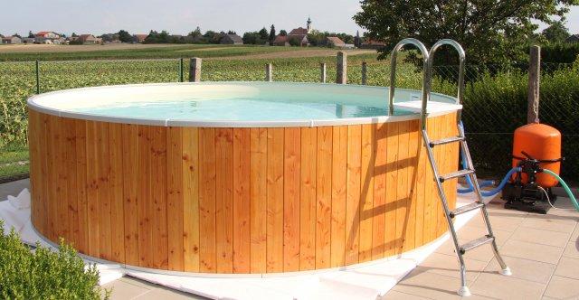 Stahlwand rundbecken selbstbau von rundpool for Pool stahlwand erfahrung