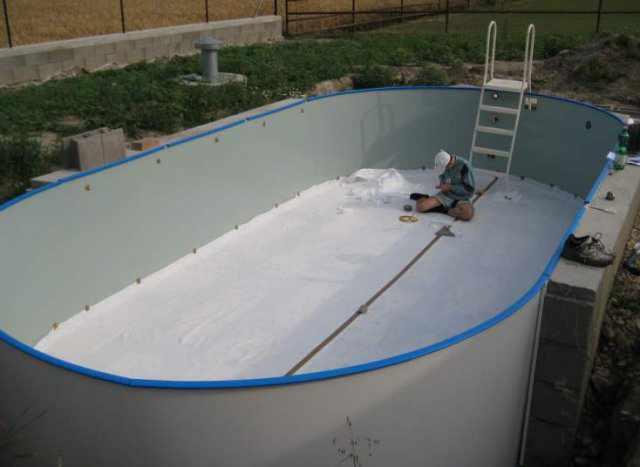 Stahlwandpool oval aufbauanleitung stahlwandbecken for Poolumrandung achtformbecken