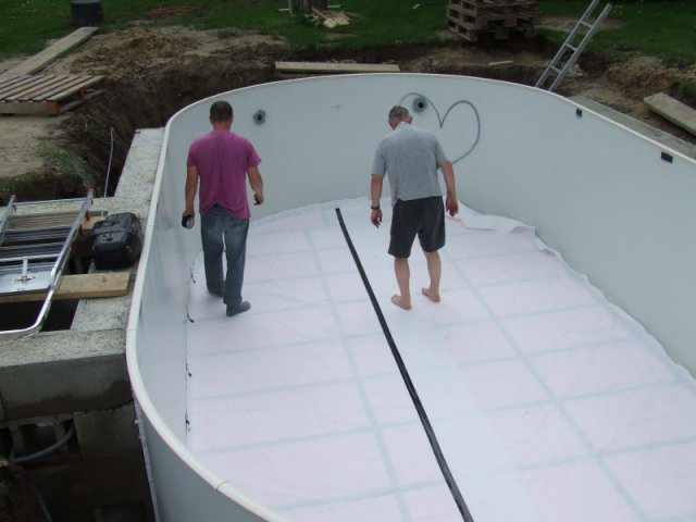 Stahlwandpool oval aufbauanleitung stahlwandbecken for Vlies pool verlegen