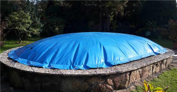 aufblasbare poolabdeckung mit 30cm kragen fur rundpool