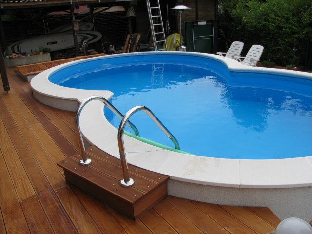Stahlwandpool set stahlwandbecken for Pool mit stahlwand