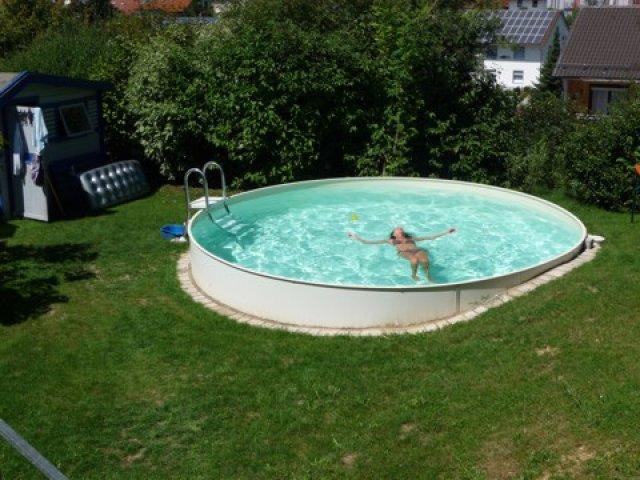 Stahl pool rund perfect with stahl pool rund good for Stahlwand rundpool komplettset