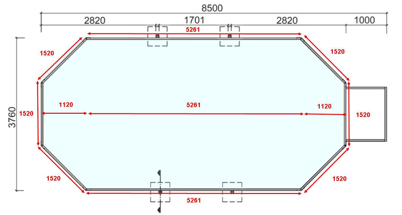 Rollabdeckplane pool rollabdeckung f r das pool for Pool gewebefolie