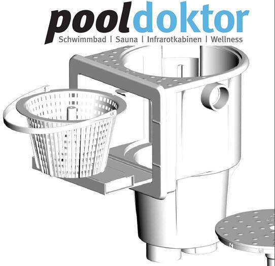 Pool einbauteile aus kunststoff skimmer bodenablauf for Pool ersatzteile stahlwand