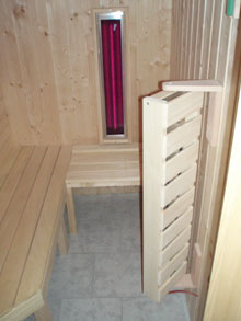 sauna als infrarotkabine vollspektrumstrahler tiefenw rme. Black Bedroom Furniture Sets. Home Design Ideas