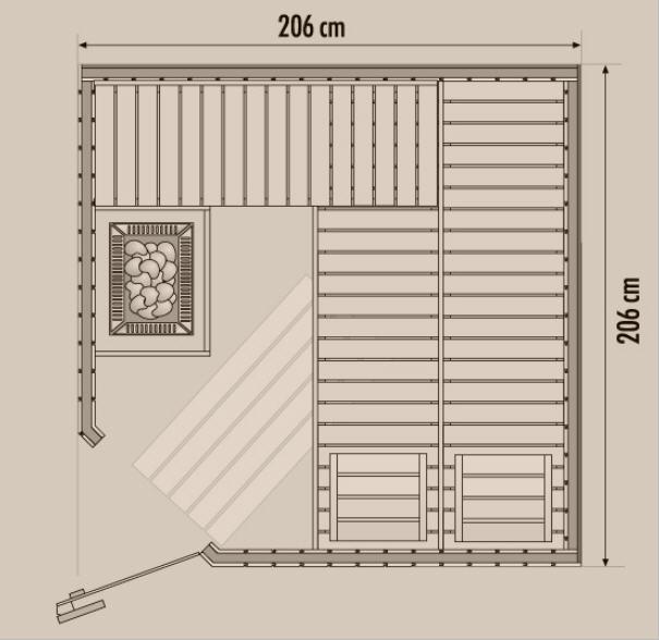 Neu Kombi - Sauna Bausatz mit Verdampfer und Infrarot – Pooldoktor AW73