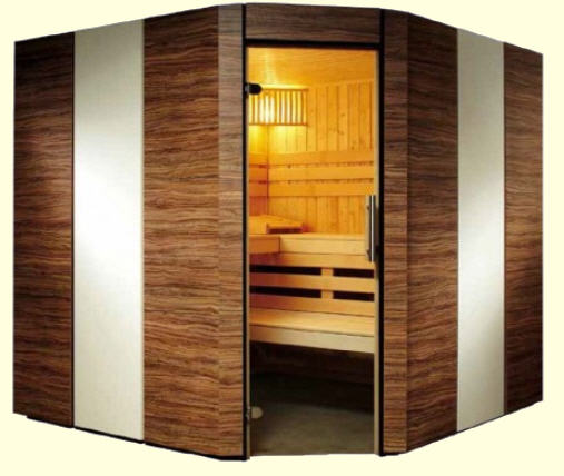 moderne sauna mit glas optik. Black Bedroom Furniture Sets. Home Design Ideas