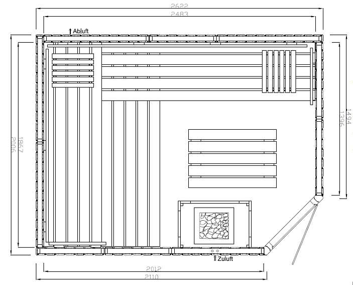 elementsauna harmonie 17 2 62 x 2 01 x 1 98 m. Black Bedroom Furniture Sets. Home Design Ideas