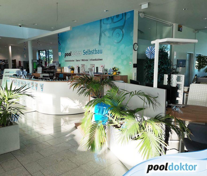 Pool Beratung bei Weißbier und Brezn