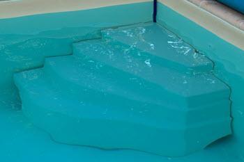 Pool Einbautreppe